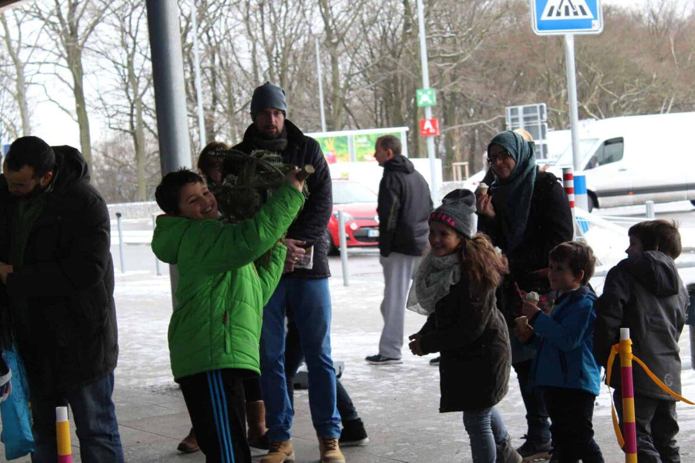 knut ist wieder da: Baumweitwurfmeisterschaft bei IKEA Wuppertal