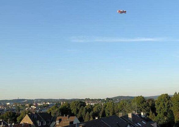 Heißluft-Luftschiff erstmals über Wuppertal